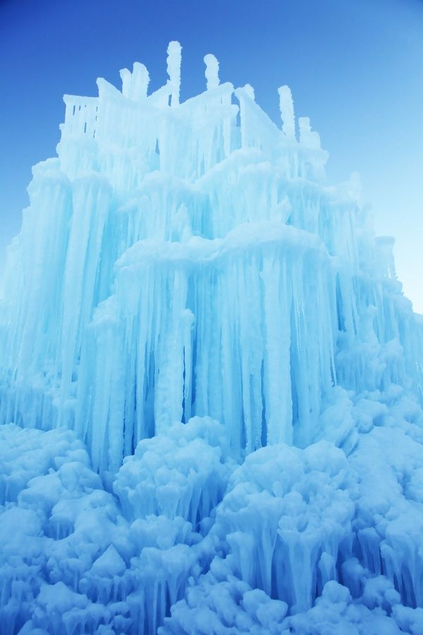Amazing Midway Ice Castles, Midway, Utah, USA