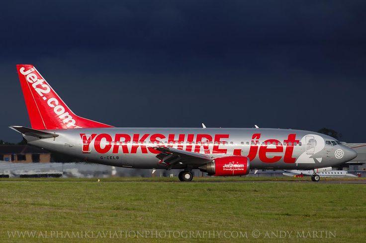 """Jet2 Boeing 737-377 G-CELB """"Jet2 Yorkshire"""", East Midlands UK (EMA / EGNX), 26th June 2015"""