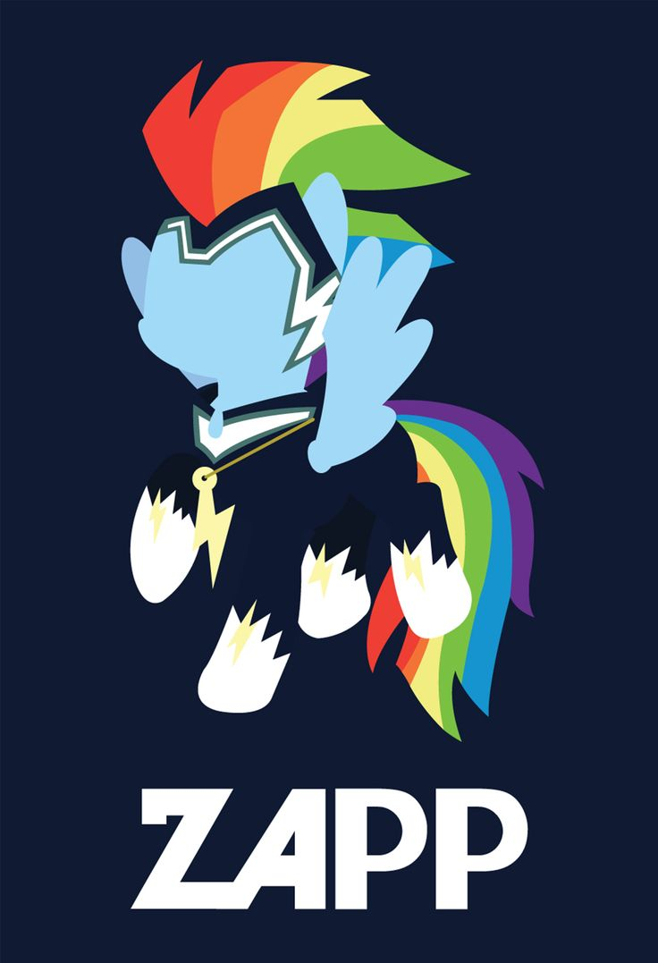 My Little Pony, Power Ponies Zapp Poster Available at; https://www.etsy.com/listing/193318968/my-little-pony-minimal-rainbow-dash-as?ref=shop_home_active_17