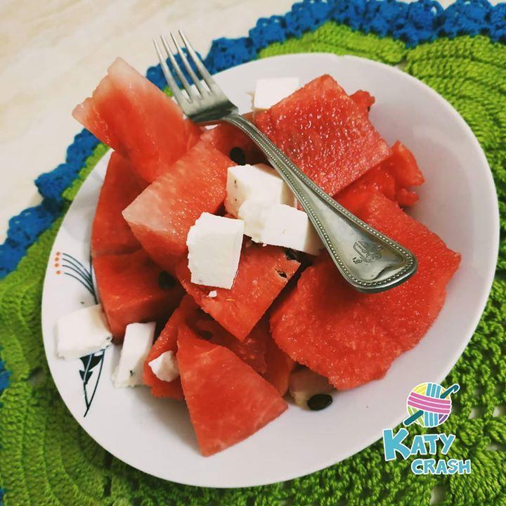 يا مساء البطيخ بال جبنة Katy Watermelon Food