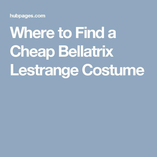 Where to Find a Cheap Bellatrix Lestrange Costume