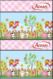 Baby Farm in Pink: Free Printable Candy Bar Labels.