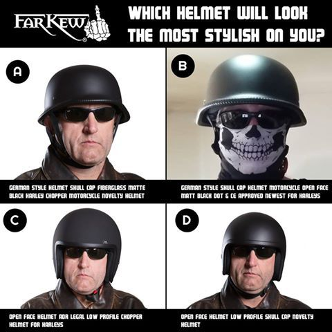 Far Kew | Biker Shirts : 5 Major Benefits of Wearing Skull Cap Helmets