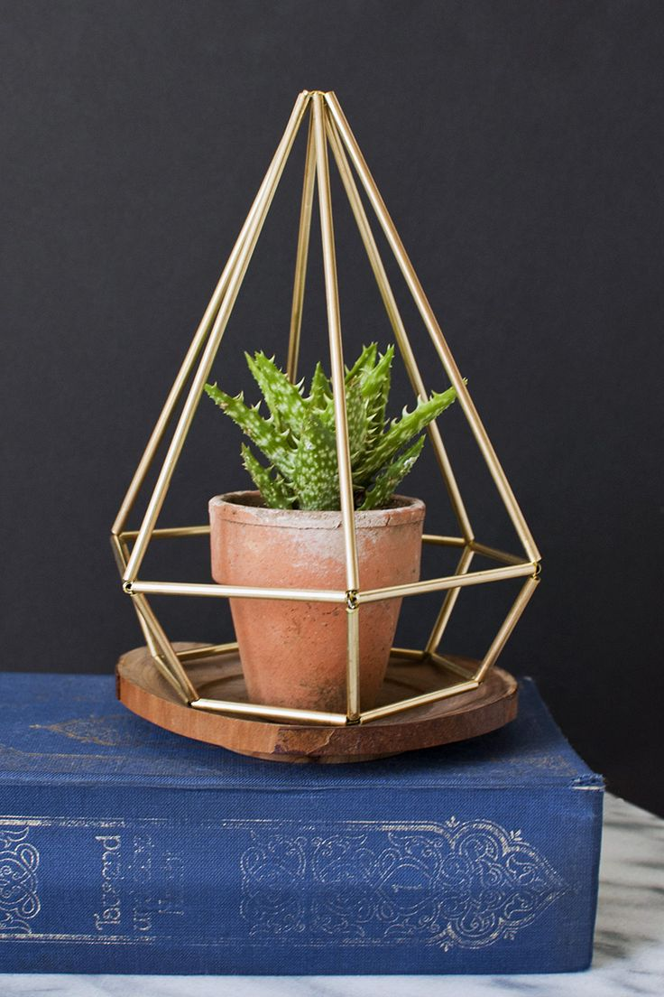 DO: Geometric Décor - Spruce up your home or meeting space with geometric shapes made from wire, straws and spray paint.