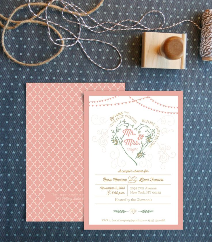 41 best engagement party invitations images on pinterest for Italian bridal shower invitations