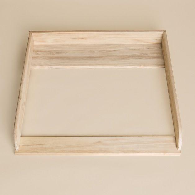 *Handgefertigter Wickelaufsatz, Wickeltischaufsatz aus Naturholz für alle IKEA Hemnes oder Hurdal Kommoden mit einer Tiefe von 50cm.*   Mit unserem neuen Aufsatz aus Naturholz (Leimholz) bieten...