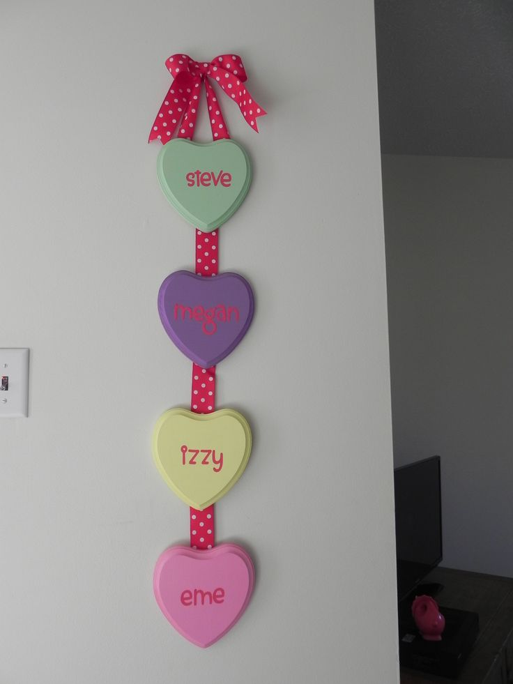 Conversation Heart Wall Hanging {#DIY Valentine's OR Mother's Holiday Craft}