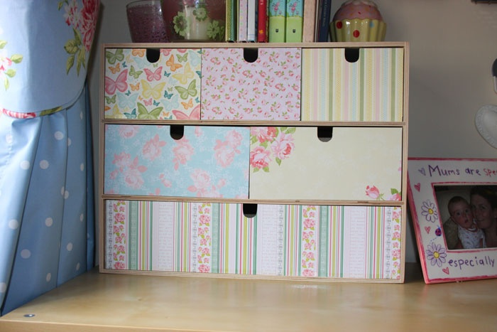 Decoupage Moppe drawers from Ikea.