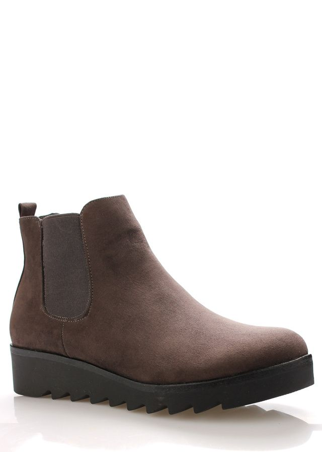 Šedé kotníkové boty s elastickou částí Claudia Ghizzani(258589) - 5