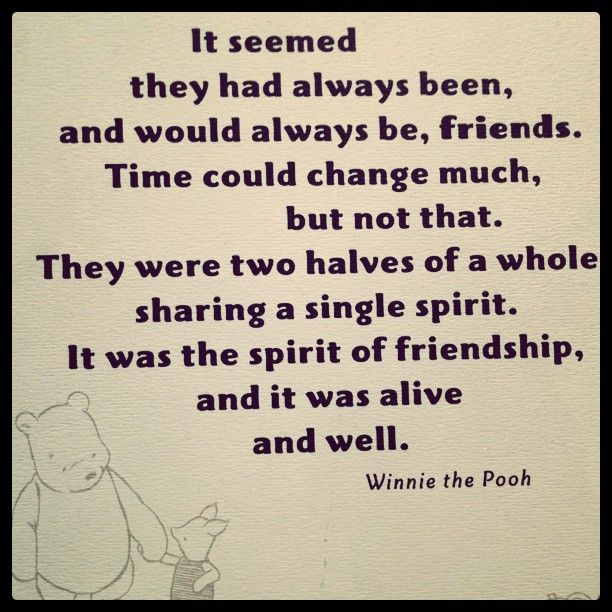 Pooh Quotes About Friendship: Pooh Friend Quotes. QuotesGram