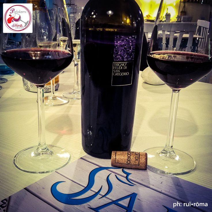 """Parlatemi di Vino... Trigaio, IGT, Feudi di San Gregorio, Campania. #telodicoiodove  da """"Saporito - fish & pizza"""" @saporitoristorante! #trigaio #aglianico #FeudiDiSanGregorio #igt #campania #saporito #saporitoristorante #pizzeria #glutenfree #localfriend #rosso #red #italianwine #vinoitaliano #wine #glass #instagood #redwine #Italy #style #excellent #winelover #winespectrum #instawine #solocosebuone  #ruiroma #parlatemidivino https://www.facebook.com/parlatemidivino"""