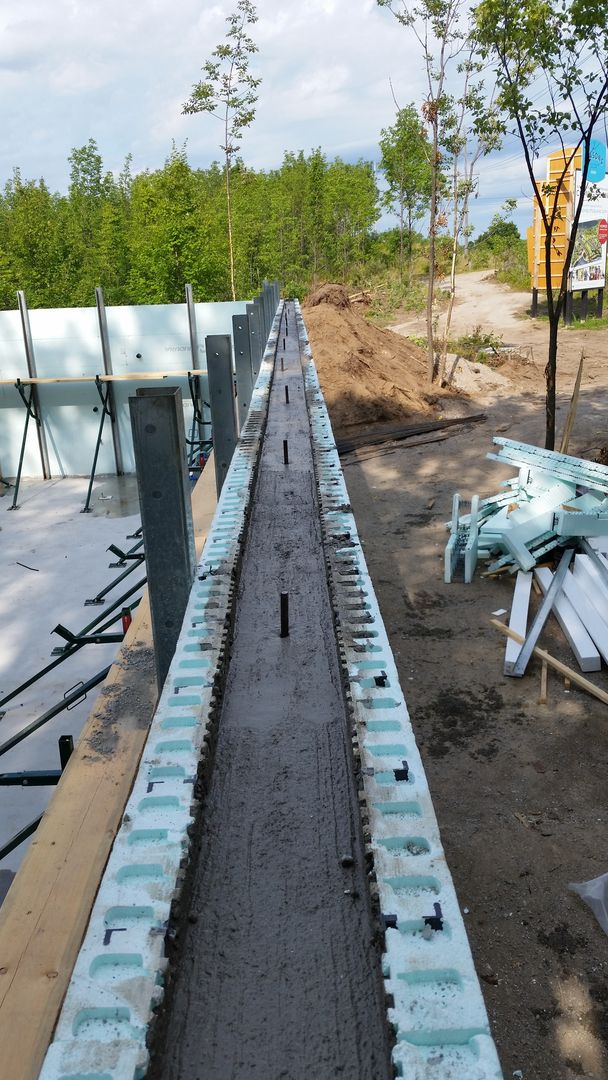 25 best ideas about insulated concrete forms on pinterest for Foam block foundation prices
