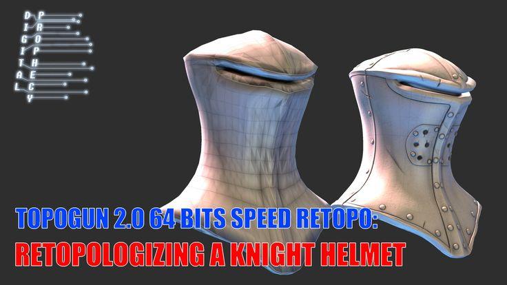 Retopologizing a Knight Helmet in Topogun in 20 Minutes