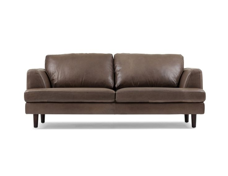 Cheap Sofas MILANO Leather seater sofa Grey