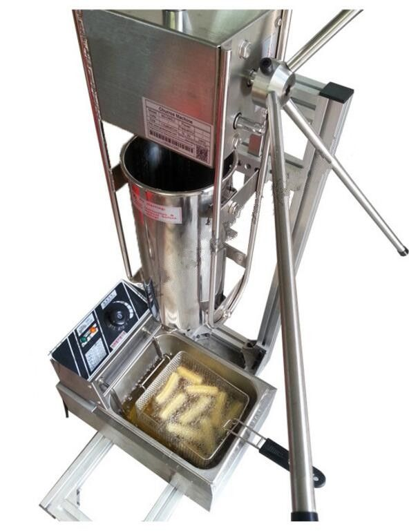 722.00$  Watch now - http://ali8t2.shopchina.info/1/go.php?t=32723716785 - Hot sale stainless steel free shipping Manual Spanish 6L gas fryer churro fryer maker machine 722.00$ #buyonline