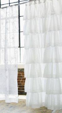 Ruffle Shower Curtain - traditional - shower curtains - Rian Rae