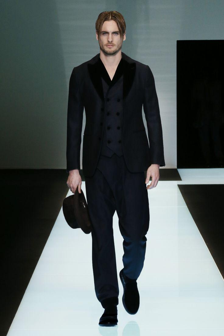 Look From The Giorgio Armani Men 39 S Fall Winter 2016 2017 Fashion Show Men Fashion Style