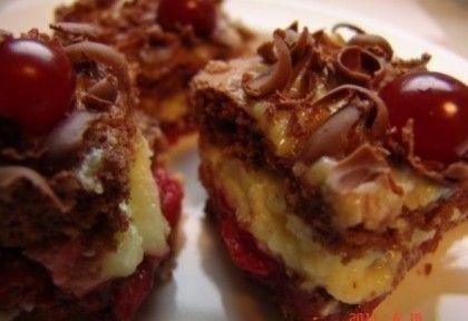Feketeerdő süti recept képpel. Hozzávalók és az elkészítés részletes leírása. A feketeerdő süti elkészítési ideje: 45 perc