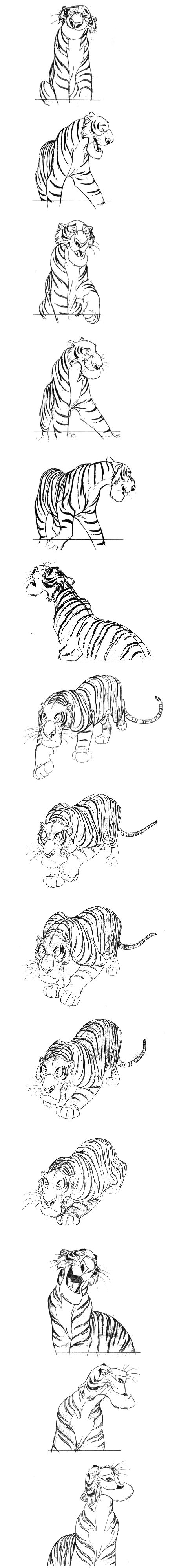"""Shere Khan"" by Milt Kahl ""The Jungle Book"" © Walt Disney Animation Studios Blog/Website (www.disneyanimation.com)"