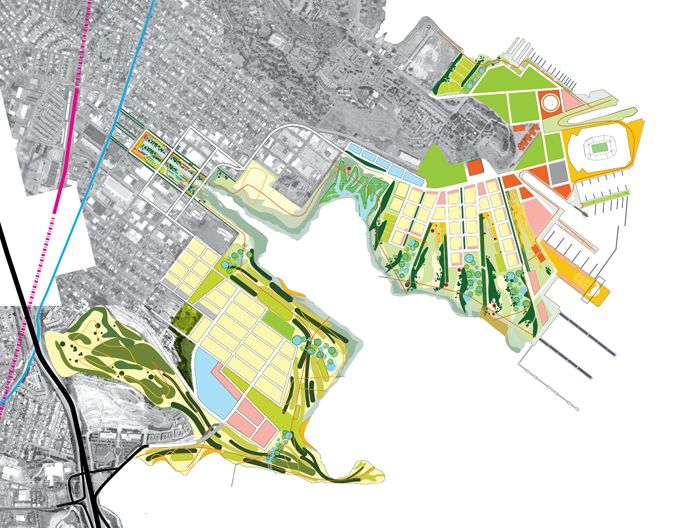 Bionic - The City of San Francisco and a developer have proposed a 700-acre development for Candlestick Point / Hunters Point Shipyard, the last large expansion of the city.