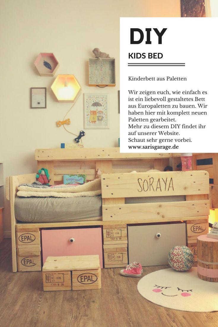ᐅ Palettenbett Für Kinder   Kinderbett Aus Europaletten DIY   Anleitung