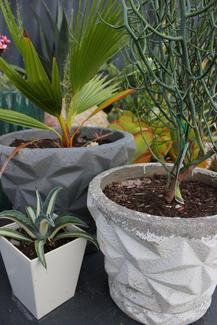 Retro 60u0027s Concrete Pots / Planters. Vintage Garden ...