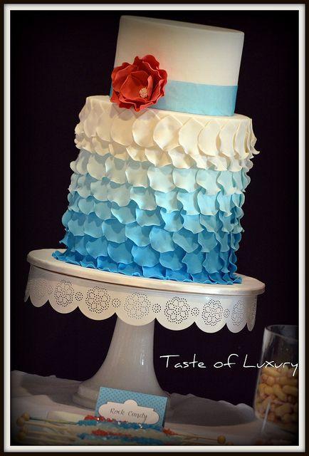 Ombre Petals Wedding Cake by Taste of Luxury, via Flickr
