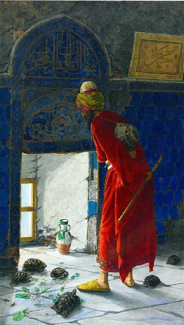 Osman Hamdi Bey 1907 yılında resmin 2. versiyonunu yapmıştır.
