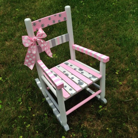 Hand Painted Rocking Chairs | Hand-painted Rocking Chair, Nursery Decor, Children's Decor, Kid's ...