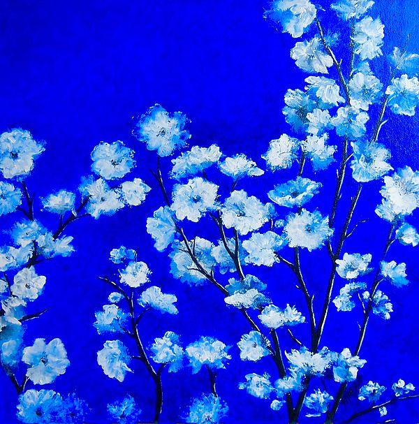 Plum Blossom  #whiteblossom #flowerpaintings #flowerpainting #flowerart #floralwallart #floralcanvasart #flowerwallart