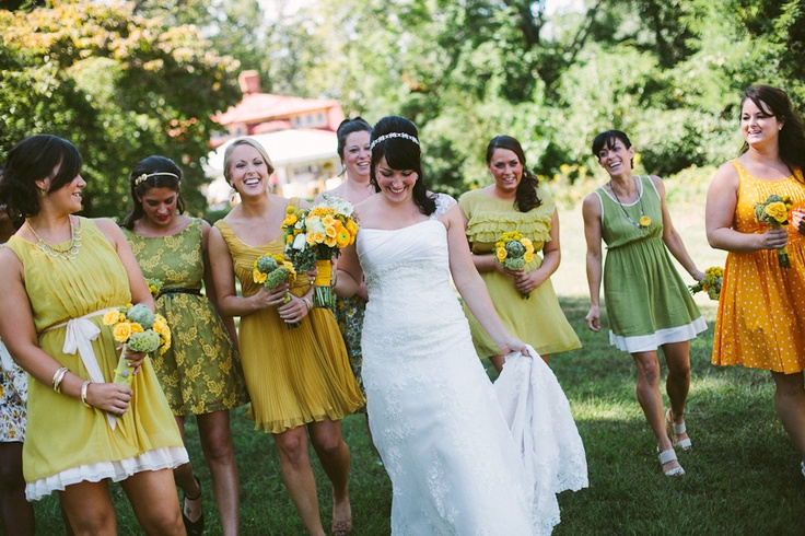 Yellow And Green Bridesmaid Dresses 33