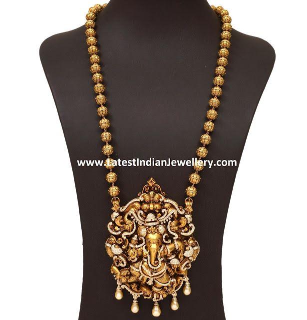 Diamond Ganesh Pendant Mala