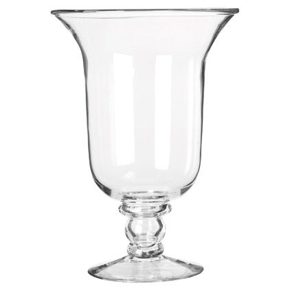 Glass Hurricane Lamp, Large - Clear