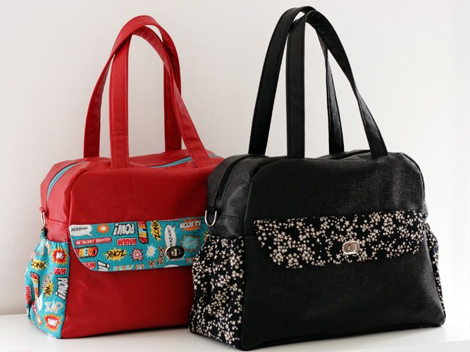 Patron de sac à langer Boogie en Français par là : http://sacotin.com/boutique/patron-sac-boogie/ - Diaper bag pattern coming soon in English.