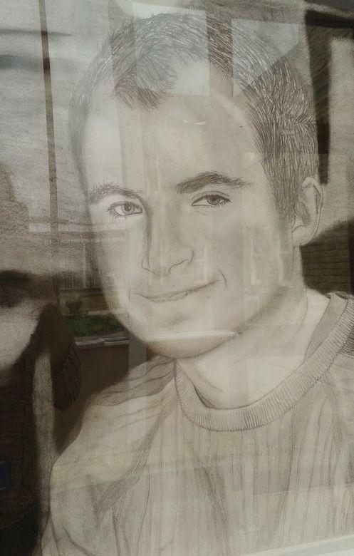 Pencil drawn selfie