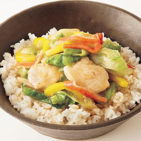 レタスたっぷり中華丼   重信初江さんのどんぶりの料理レシピ   プロの簡単料理レシピはレタスクラブニュース