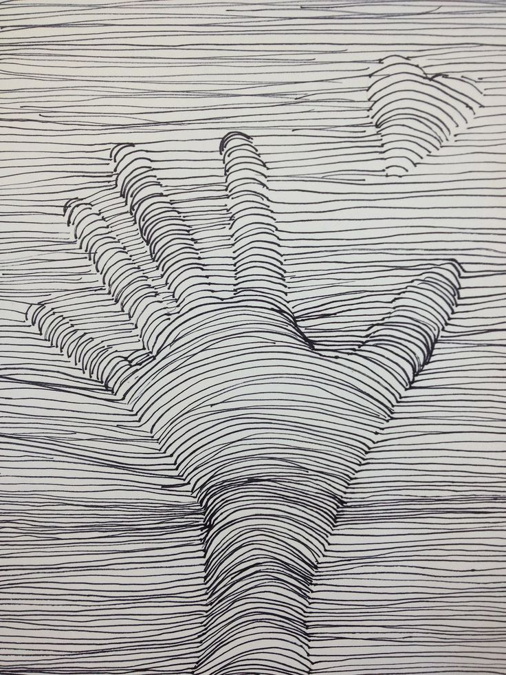 Drawing Lines Between : Lightly trace hand draw a heart in the open space
