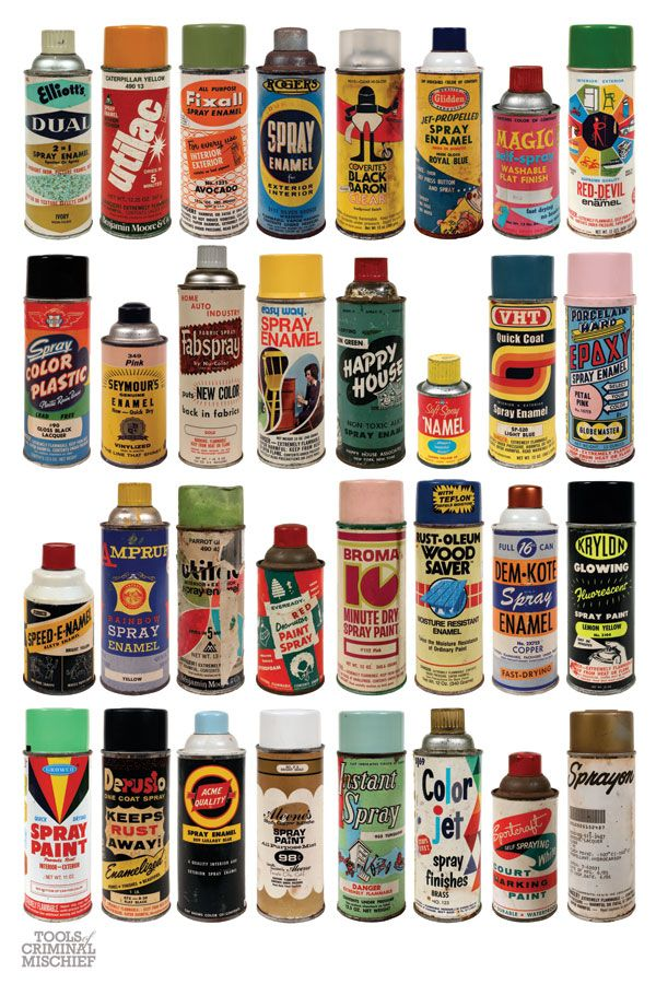 vintage spray cans