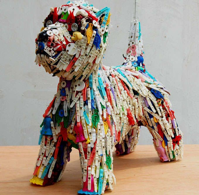 Recycled Toy Canines : Robert Bradford