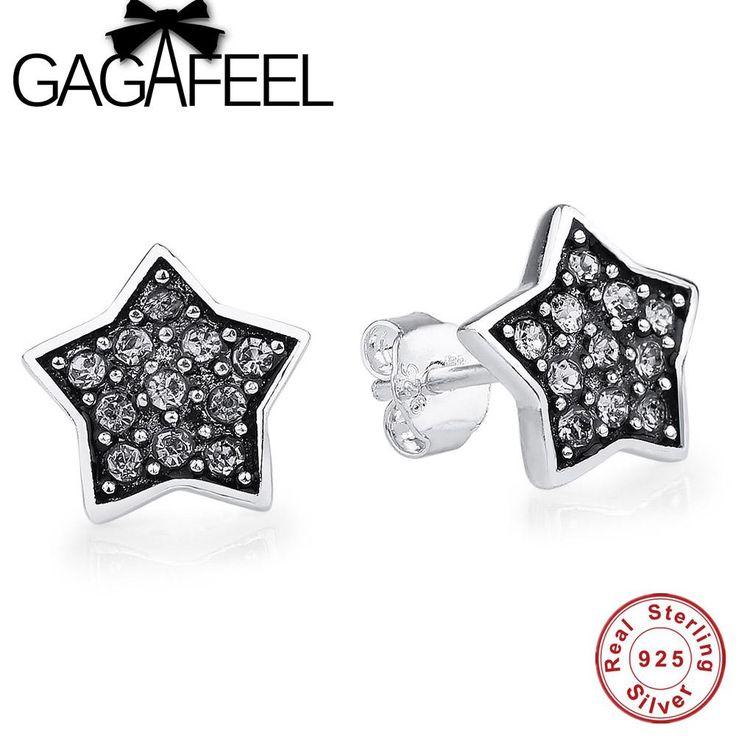 GAGAFEEL High Quality Star Stud Eearrings 925 Sterling Silver Earrings for Women Luxury Jewelry Accessory