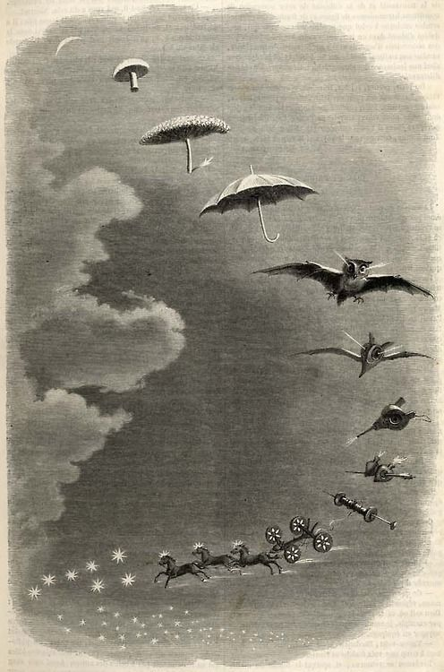Second Dream and Stroll in the Sky by J.J. Grandville