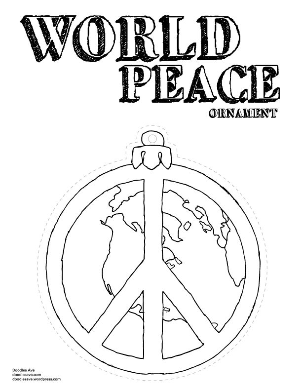 12 Days of Christmas Coloring Fun- Day 2: twp peace