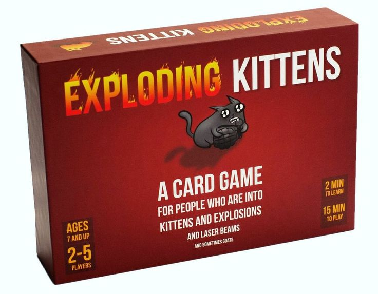 Exploding Kittens is a card game for people who are into