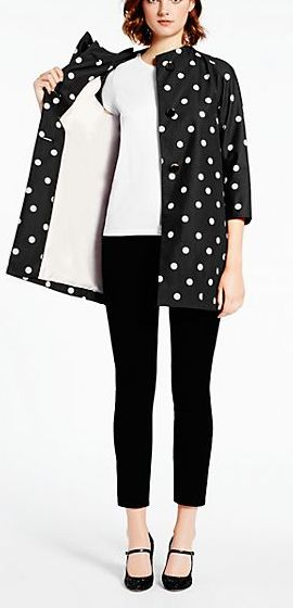 Polka dot coat by kate spade new york - 30% off with code CYBER30 http://rstyle.me/n/qi4usn2bn