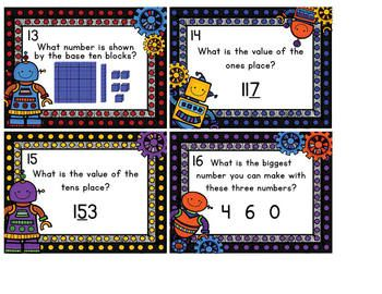 Rockin' Robot Place Value Scoot to the Hundreds Place.  This Scoot game covers the place value topics of standard and expanded form, base ten block representation of numbers, and the value of the hundreds, tens, and ones places.  Scoot is a great way to get your students up and moving around the room while reviewing previously learned skills!  $