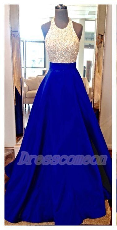 New Design Long Royal Blue Prom Dresses,Halter Beading Charming Prom Gowns,Modest Evening Dresses  http://www.luulla.com/product/588546/new-design-long-royal-blue-prom-dresses-halter-beading-charming-prom-gowns-modest-evening-dresses