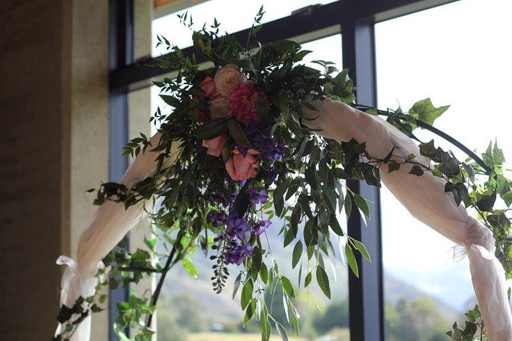 wedding archway flowers http://www.wanakaweddingflowers.co.nz