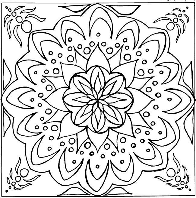 Coloring Celtic And Flower Pages Circle Mandala Coloring Pages