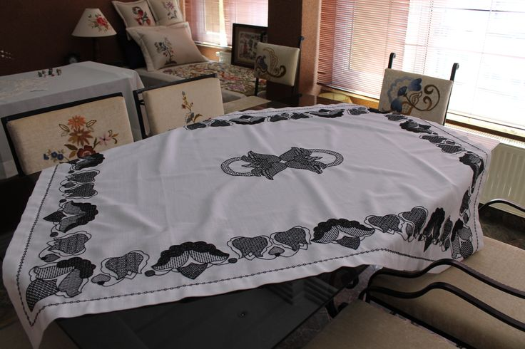 blackwork - handmade - embroidery - nakış - el işi