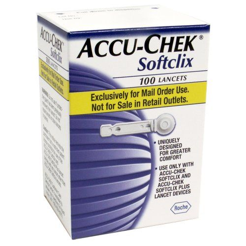 ACCUCHEK Softclix Lancets 100Count Box *** Continue to the product at the image link-affiliate link.